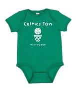Boson Celtics Basketball Fan It's in My DNA Baby Bodysuit Creeper  - $8.95