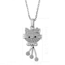 Hello Kitty Style Design Anti-Tarnish Crystal Stones Necklace Pendant, HKN-1 - $16.80