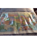 "Vintage United States Map 50""x38"" American Map Corporation 1992 Laminated - $15.00"