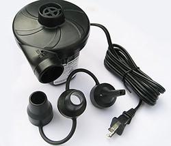 AC Electric Inflatable Air Bed Pump (110V-120V 60Hz, Black) - ₨2,201.60 INR