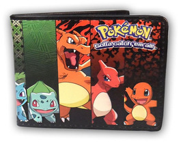 Pokemon Evolution Squirtle, Bulbasaur, Charmander Bi-Fold Wallet *NEW* - $23.99