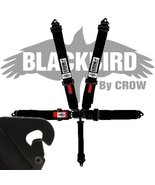 Crow Black Bird Quick Release Black Seat Belt 3 Inch Lap 3 Inch Shoulder... - $202.00