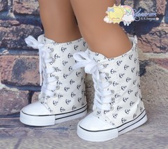 Lace-Up Knee High Sneakers Shoes Boots Sailor A... - $10.88
