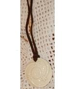 Avon Ceramic Pendant on Brown Sueded Cord - $5.00