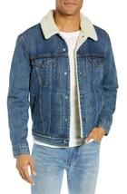 Levi's Strauss Men's Cotton Sherpa Lined Denim Jean Trucker Jacket 163650040 image 1