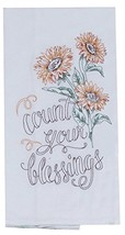 Kay Dee Designs Count Your Blessings Sunflowers Embroidered Flour Sack K... - $21.46