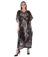 Hippy Boho Maxi Long Kaftan Dress Women Caftan Top Tunic Dress Gown Brow... - $7.19