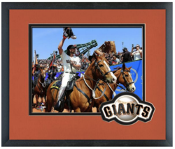 Madison Bumgarner & 2014 World Series Championship Flag Opening Day at A... - $42.95