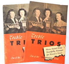 "Two Vintage Christian Music Books -1946 ""Treble Trios Choice Sacred Song... - $8.99"