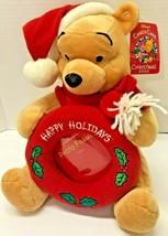 "Disney Winnie the Pooh With Photo Frame Christmas 10"" Plush Figure - $19.80"