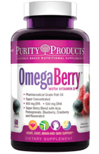 Omega Berry Fish Oil by Purity Products - 60 Soft Gels by Purity Products
