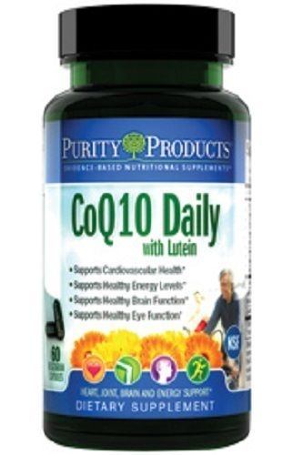 CoQ10 Daily with Lutein by Purity Products - 60 Vegetarian Capsules