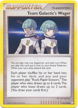 Team Galactic's Wager 115/123 Uncommon Supporter Mysterious Treasures Pokemon - $0.69