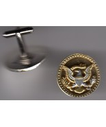 Real Kennedy Half Dollar, 2-Toned Gold on Silver, Coin Cufflinks - $126.00