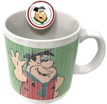 Hanna-Barbera Fred Flinstones Ceramic   Coffee Mug Cup Vintage 1990 - $26.99