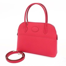 HERMES Bolide 27 Epsom Rose Extreme #D Handbag Shoulder Bag  5554645 - $8,834.10