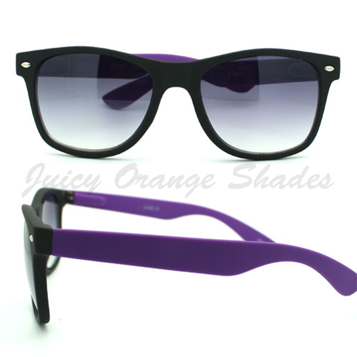2-TONE Horn Rimmed UNISEX Sunglasses More BRIGHT FUN Colors SOFT MATTE Finish