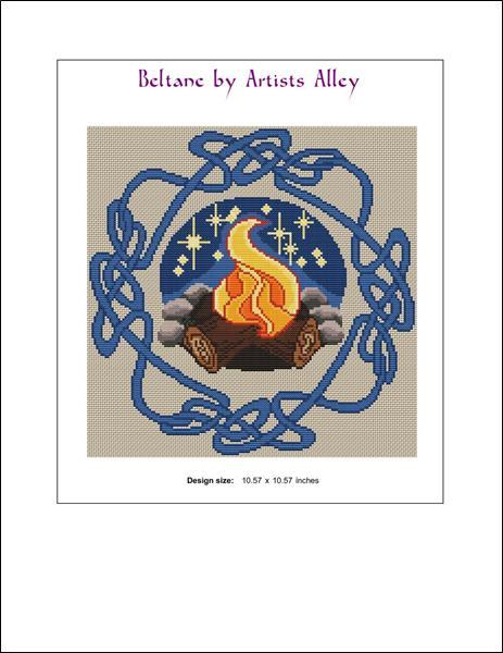 Beltane cross stitch chart Artist's Alley