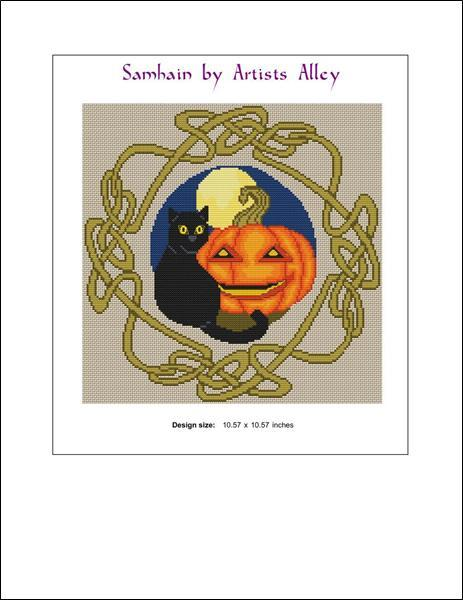 Samhain cross stitch chart Artist's Alley