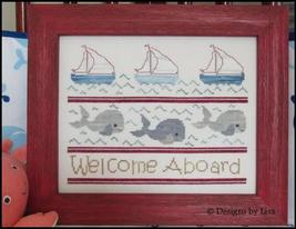 Welcome Aboard cross stitch chart Designs by Lisa - $6.30