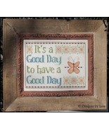 A Good Day cross stitch chart Designs by Lisa - $6.30