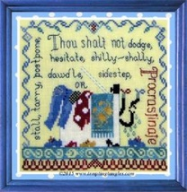 Procrastination cross stitch chart Tempting Tangles - $7.20