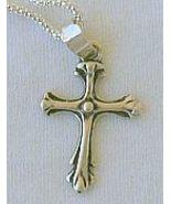 Mini cross silver LH - $21.00
