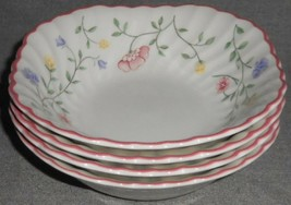 Set (4) Johnson Brothers SUMMER CHINTZ PATTERN Square Cereal Bowls ENGLA... - $69.29