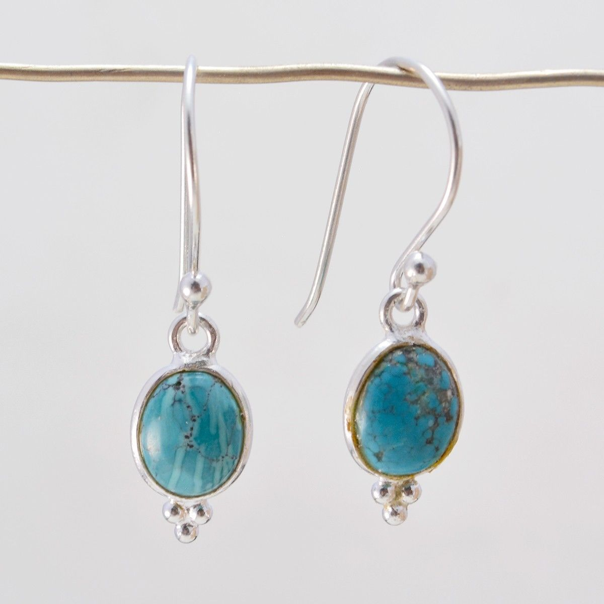 Primary image for Multi 925 Sterling Silver genuine bewitching Turquoise gemstone Earring AU gift