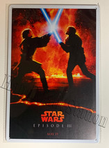 Star Wars Episode 3 Revenge of the Sith Wall Metal Sign plate Home decor 11.75""