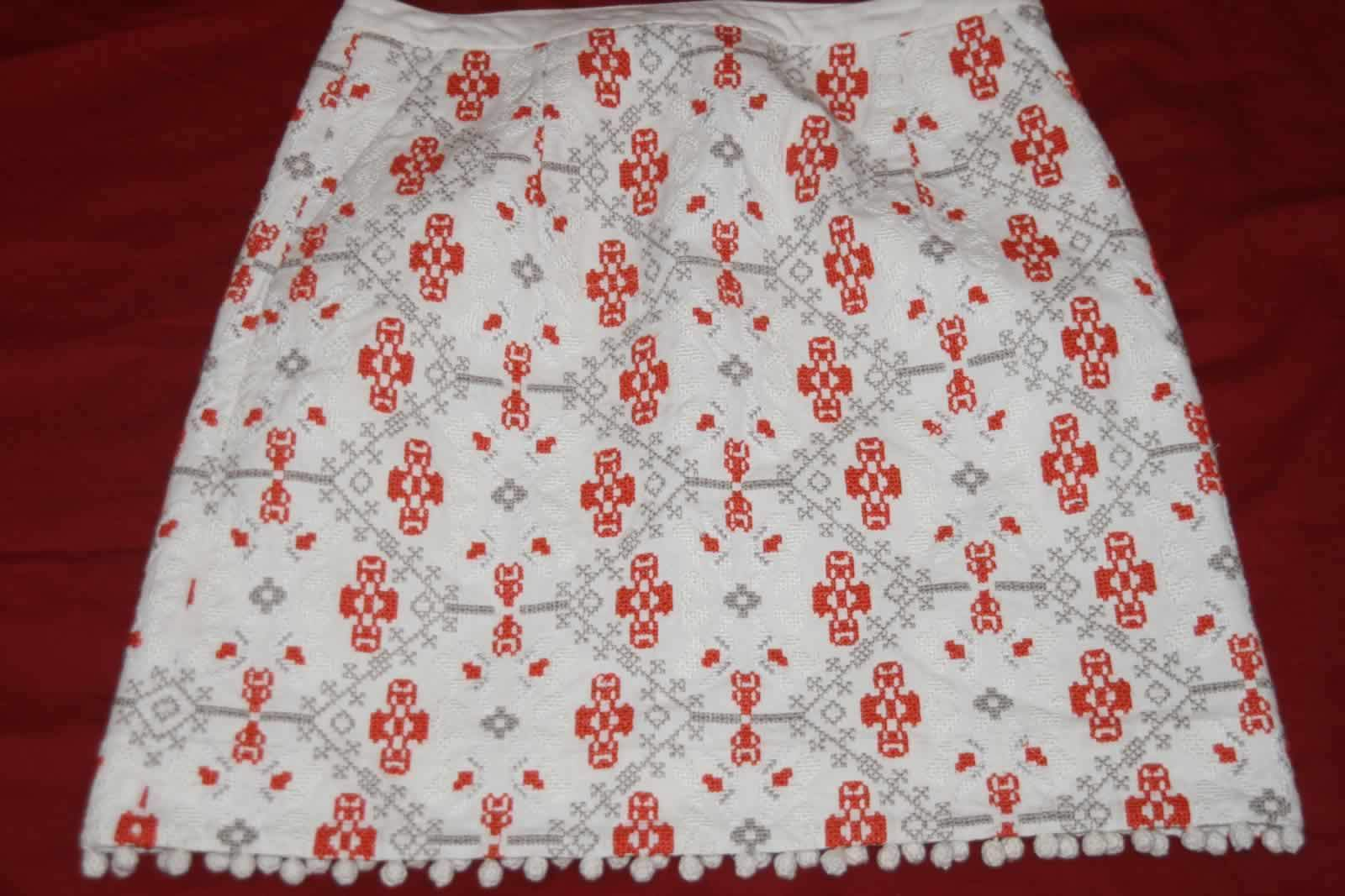 Maeve Anthropologie Mini Skirt Geometric Sz 4 NWT Retails 128.00