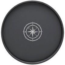 Kraftware Round Vinyl Compass Point Serving Tra... - $29.99