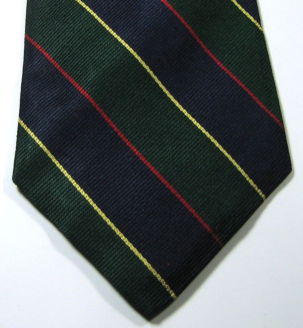 290a0d6559f9 57. 57. Previous. BROOKS BROTHERS Makers Rich Navy Gold Green Red Stripe Tie  RARE 100% Silk