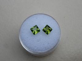 Peridot princess loose gem pair 5mm each - $14.99