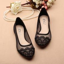 See Through Lace Shoes,Shoe lace styles,Lace Up Shoes/Flats,Lace Ballet Flats - $48.00
