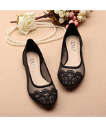 See Through Lace Shoes,Shoe lace styles,Lace Up Shoes/Flats,Lace Ballet ... - $48.00