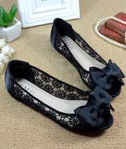 See Through Lace Shoes,Open toe Shoe lace styles,Peep toe Lace Ballet Flats - £38.61 GBP
