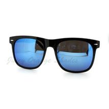 Unisex Oversized Black Square Frame Sunglasses Multicolor Mirror Lens - $7.95