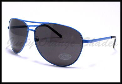 AVIATOR Sunglasses SPRING HINGE CLASSIC Pilot Design for MEN/WOMEN BLUE