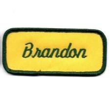 Brandon Name Patch. Hi  Vis Yellow Tag Mechanics Shirt Garage Automotive... - $4.73