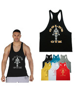 cotton gym tank top men Sleeveless tops for boys bodybuilding clothing Sport und - $12.80