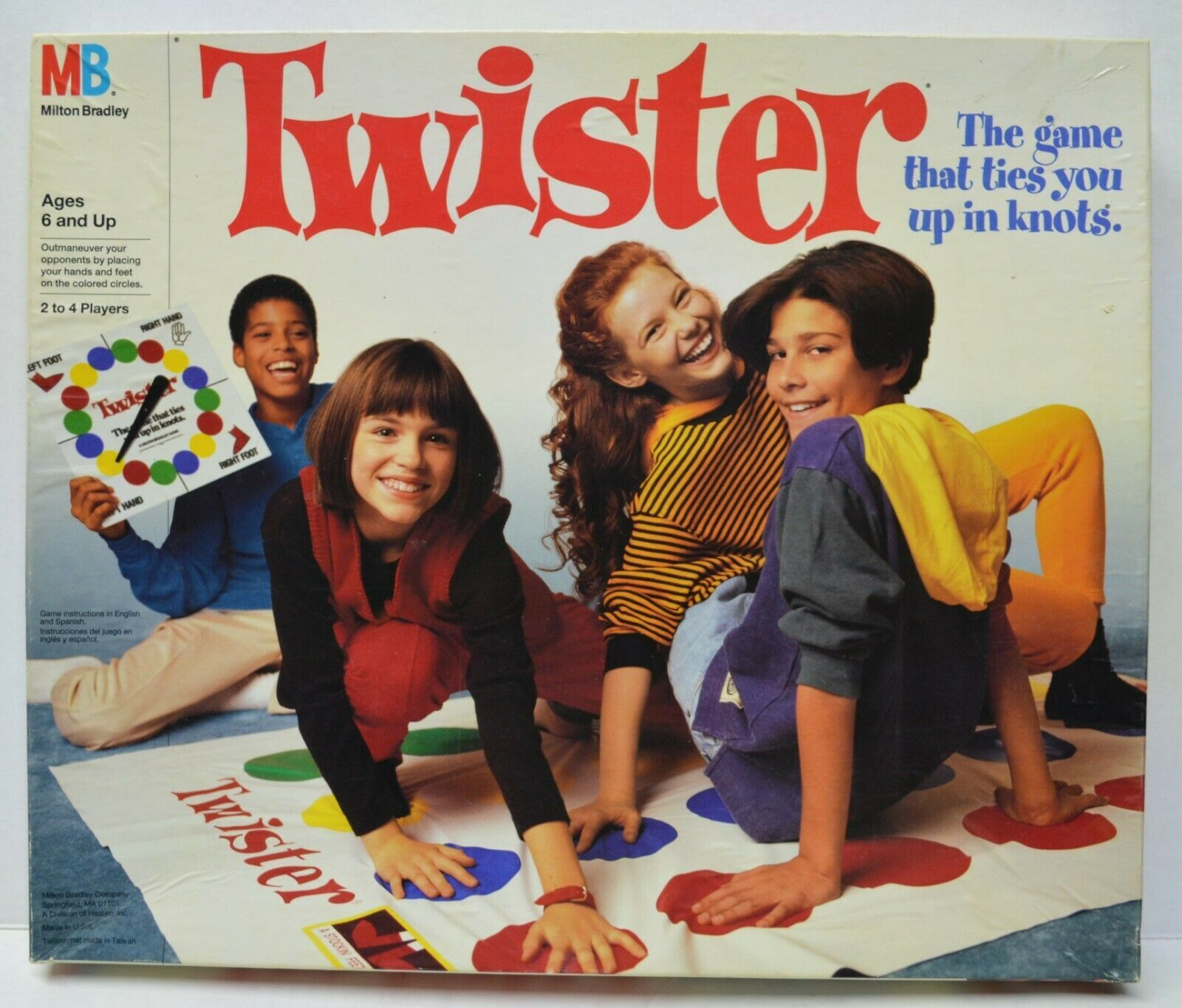 Primary image for Twister Game by Milton Bradley Hasbro 1993 Very Nice Condition