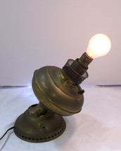 Vintage Electrified Brass Oil Lamp with Large M... - $54.40
