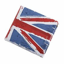Classic The Union Jack Men Wallet Purse Short PU Leather Wallet,4.3x3.8x0.5 inch