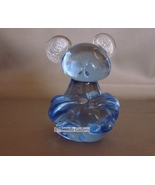 """Blue Glass Mouse or Koala  Bear Paperweight Art Glass 3-1/4"""" Tall - $5.99"""