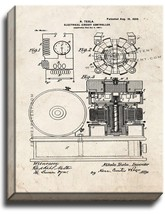Electrical Circuit Controller Patent Print Old Look on Canvas - $69.95+