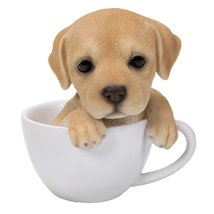 Adorable Teacup Pet Pals Puppy Collectible Figurine 5.75 Inches (Labrador) - £13.53 GBP
