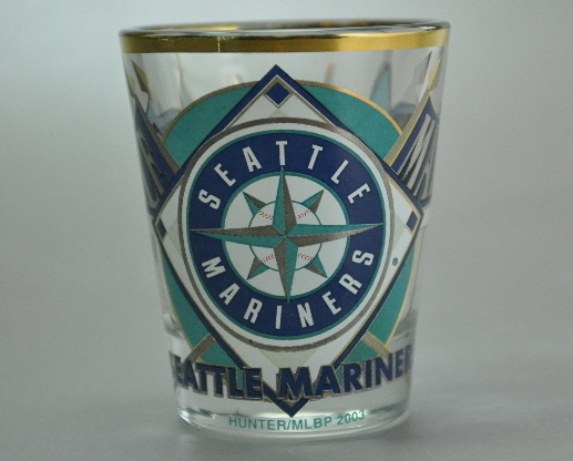 Seattle Mariners MLB Baseball Shot glass 2003 Gold Trim