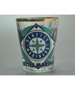 Seattle Mariners MLB Baseball Shot glass 2003 Gold Trim - $5.75
