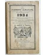 Old Farmer's Almanac 1934 Robert Thomas vintage book Carroll Swan Boston... - $12.00